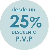 25 por ciento descuento